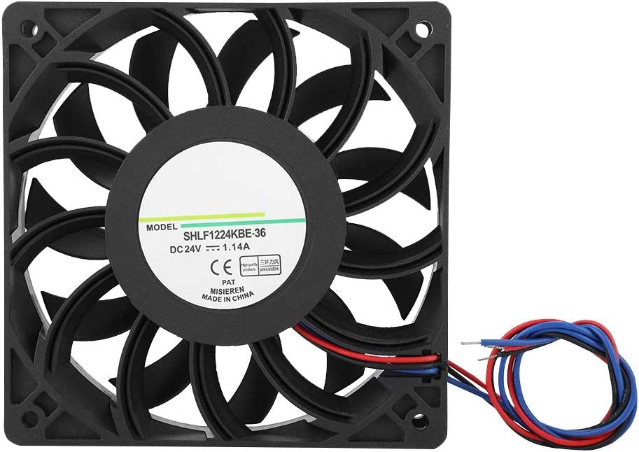 Wendry Cooling Fan Inverter Transmission Server Cooling Fan SHLF1224KBE-36 DC24V 1.14A 12CM Cooler Double Ball Bearing Fast Heat Dissipation Cooling Fan