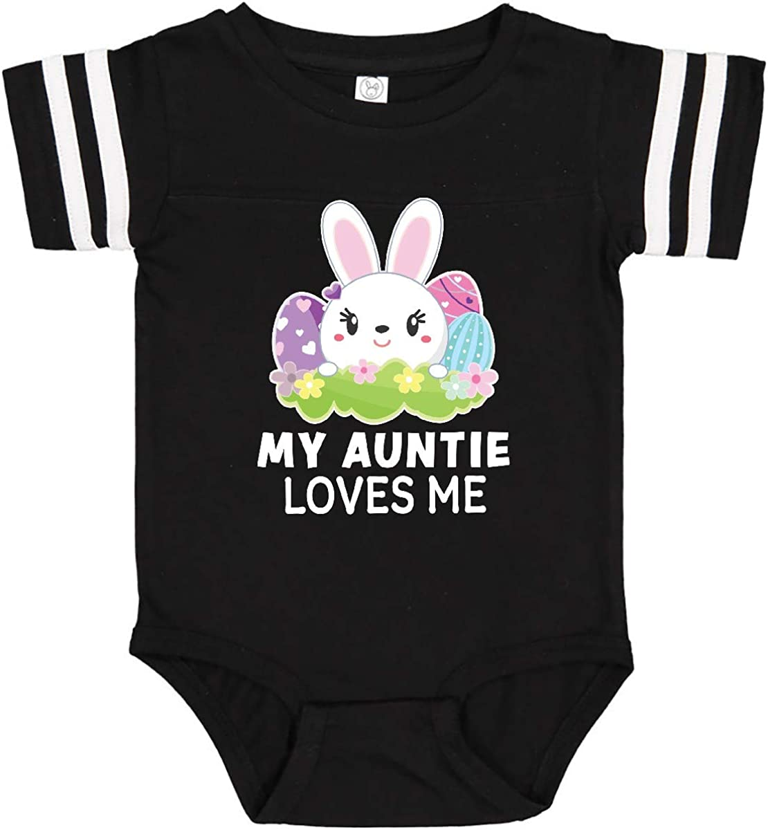 inktastic My Tia Loves Me with Bunny and Easter Eggs Toddler T-Shirt