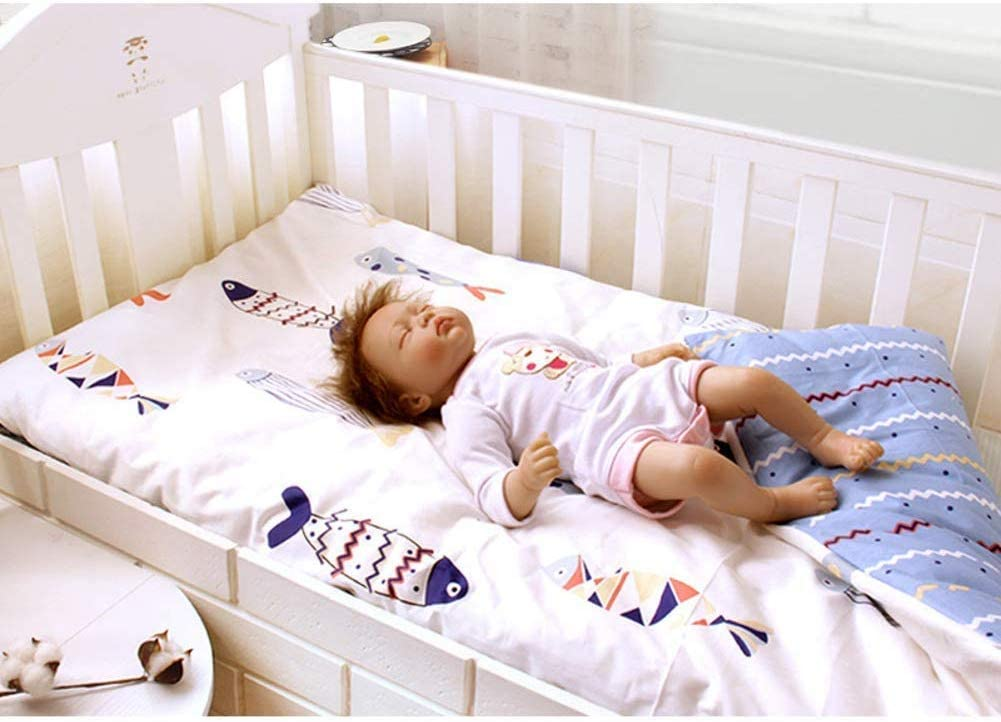 FF Protector de colchón de Cuna de algodón orgánico, cojín Impermeable para Gatear bebé Cojín de Dormir hipoalergénico Tamaño de Cuna Lavable Tatami Mat-f 105x60cm (41x24 Pulgadas): Amazon.es: Hogar
