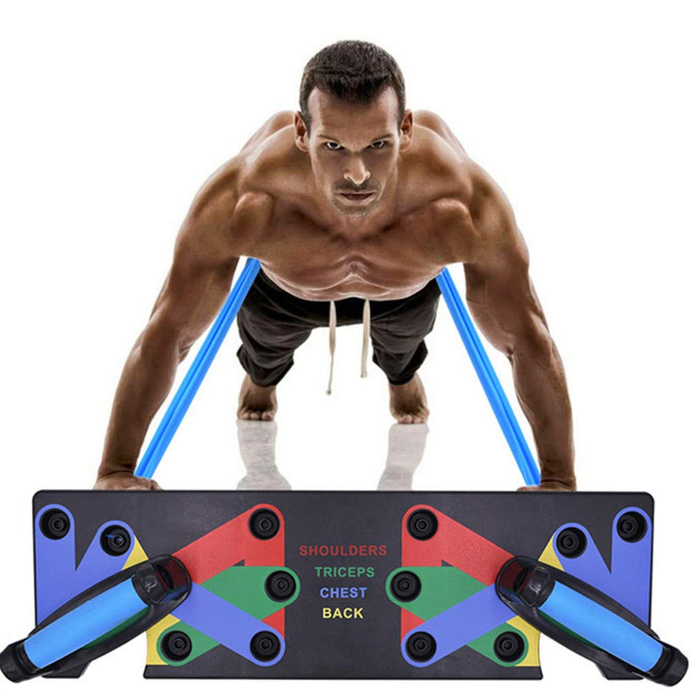 Magneticspace Push Up Board,9 in 1 Push Up Rack Board System Fitness Workout Train Gym Exercise Stands