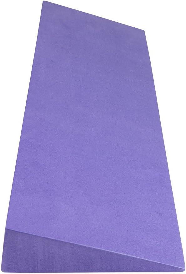 "Purple Yoga Wedge 6/"" Wide X 20/"" Long X 2/"" Thick"