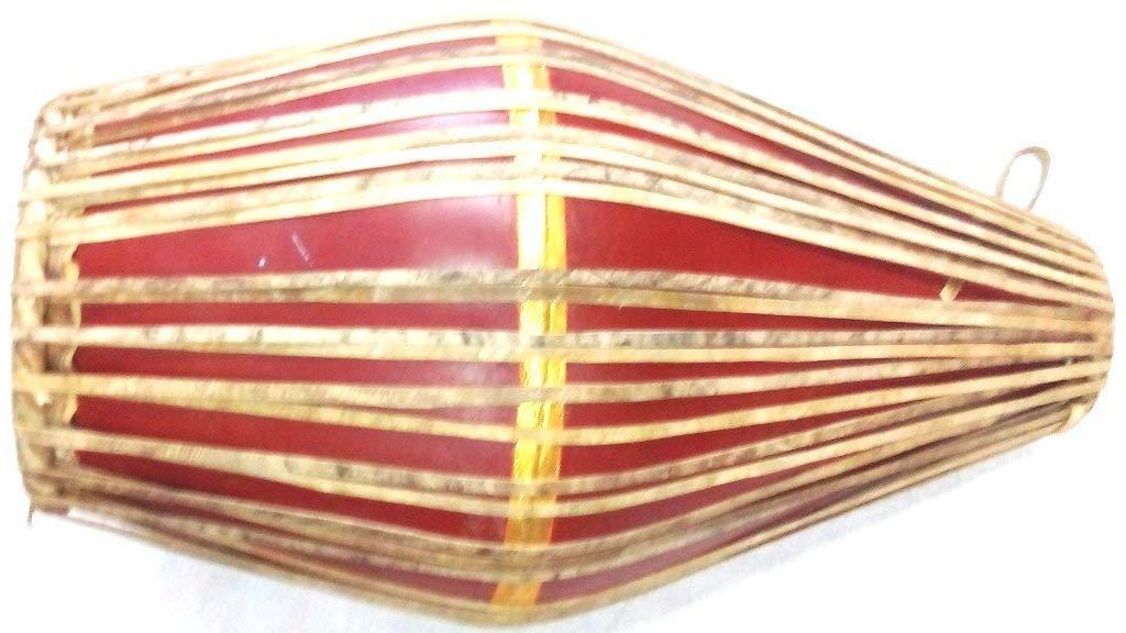 marrone Vrindavan Bazaar Fiber Mridangam drum