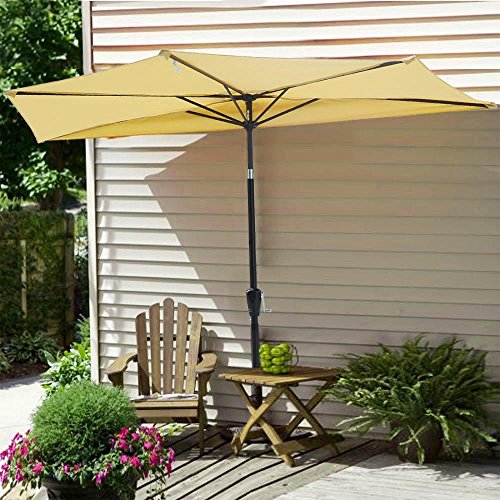 Yescom Outdoor Umbrella Balcony Aluminum