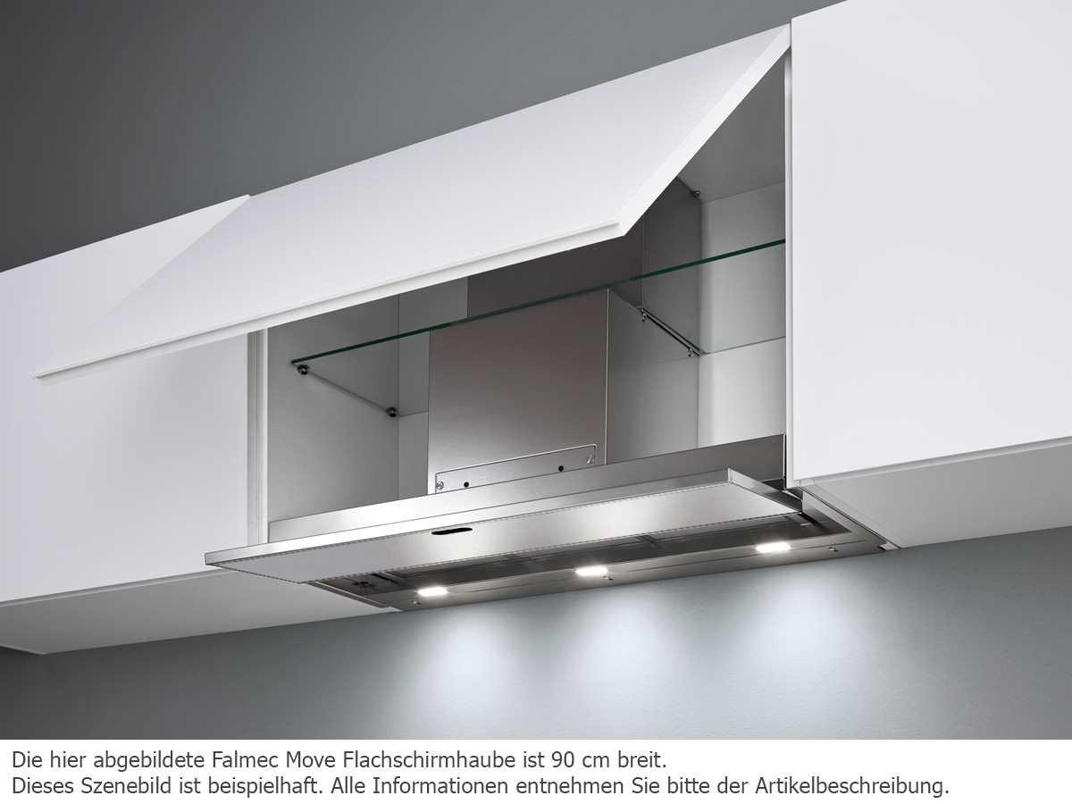 Falmec move flachlüfter 60 cm edelstahl glas weiß: amazon.de