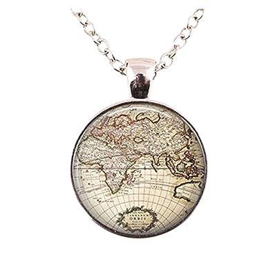 Glass dome vintage globe necklace vintage world pendant world map glass dome vintage globe necklace vintage world pendant world map jewelry keepsake map gumiabroncs Choice Image