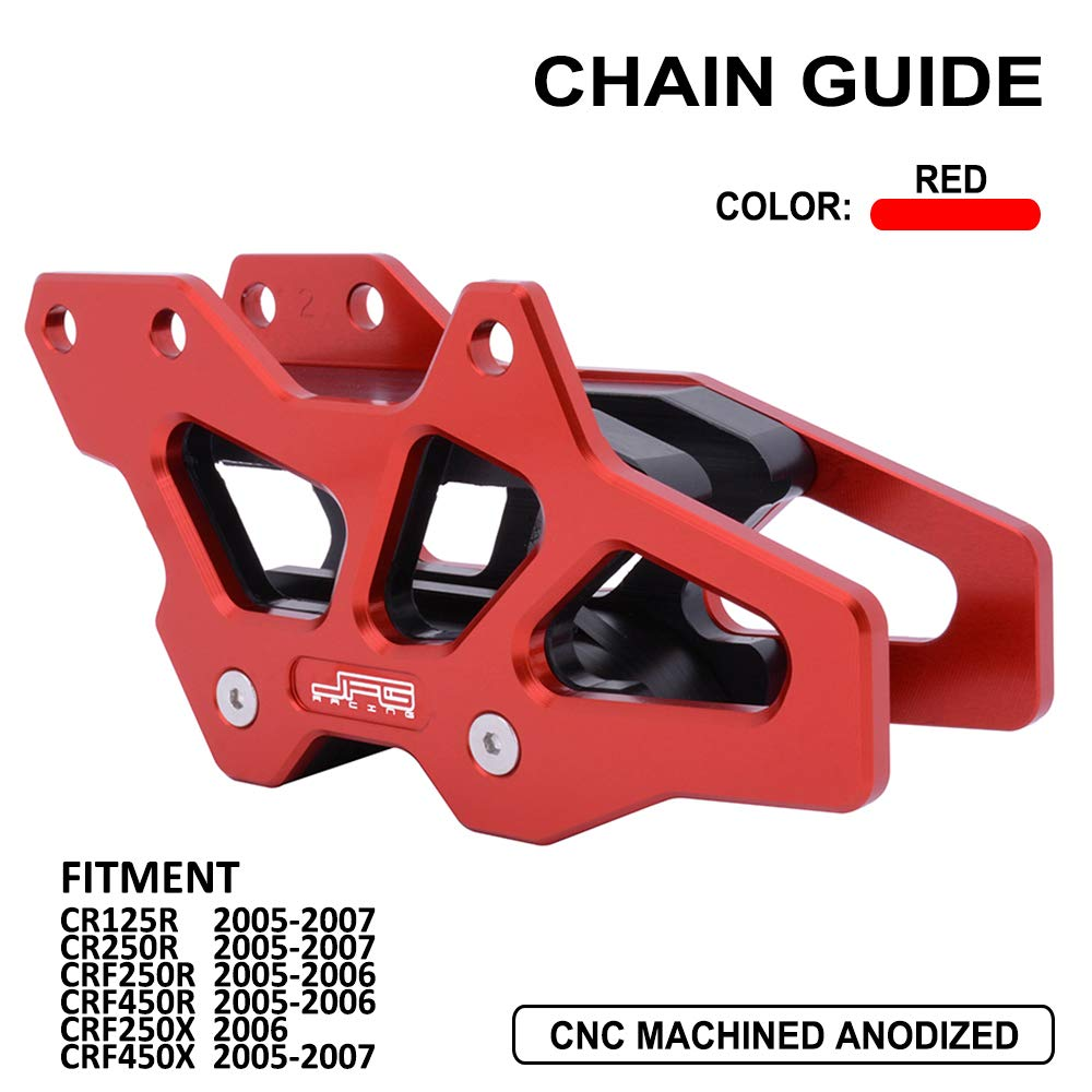 JFG RACING CNC Chain Guard Guide Protector For For Honda CR125R CR250R CRF250R CRF450R CRF250X CRF450X 2005-2007 by JFG RACING