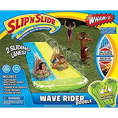 Wham-O Slip N Slide Hydroplane Double with 2 Slide Boogies: Toys & Games