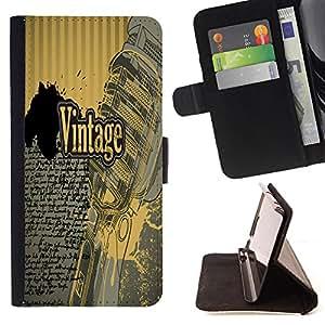King Case - FOR Samsung Galaxy S6 - you know I will - Prima caja de la PU billetera de cuero con ranuras para tarjetas, efectivo Compartimiento desmontable y correa para la mu?eca