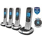 BT 2700 DECT Nuisance Call-blocker Cordless Telephone (Digital Phone) - Intercom - Caller Display - Hands-free Speakerphone - Answer Machine (086908-UK) (Silver / Black) - QUAD