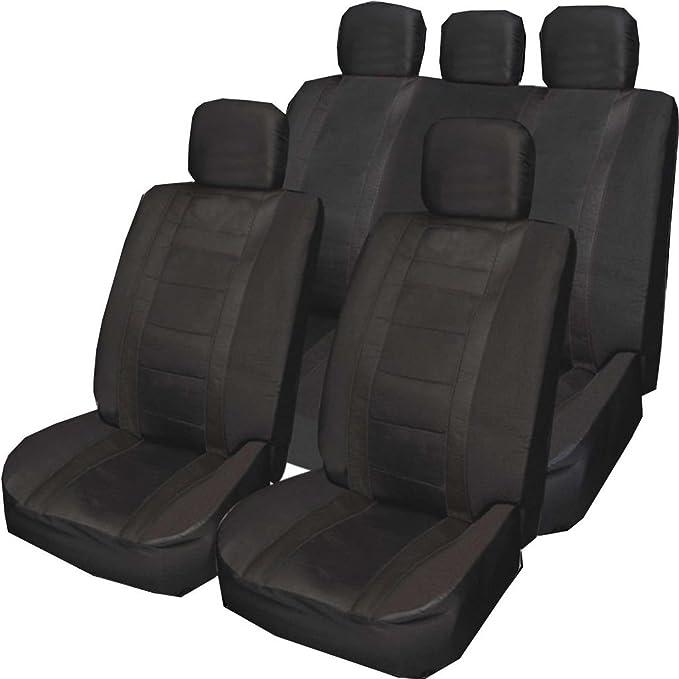 SEAT IBIZA 02-09 Heavy Duty Waterproof Front Seat Covers Protectors Black