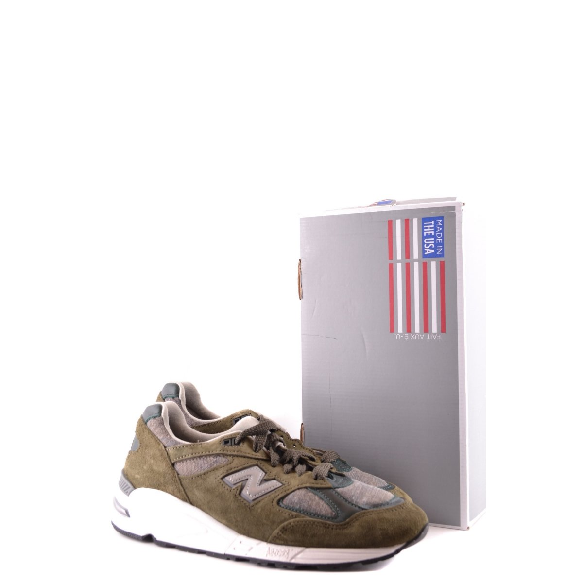 New Balance Uomo M990 Made In Usa Dsu2 Sneakers Verde Militare Camoscio-Tessuto Fall-Winter 2016 StyfBzPLxs