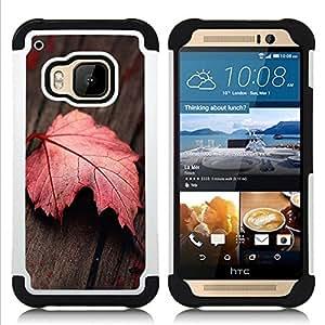 For HTC ONE M9 - Red Leaf Dual Layer caso de Shell HUELGA Impacto pata de cabra con im????genes gr????ficas Steam - Funny Shop -
