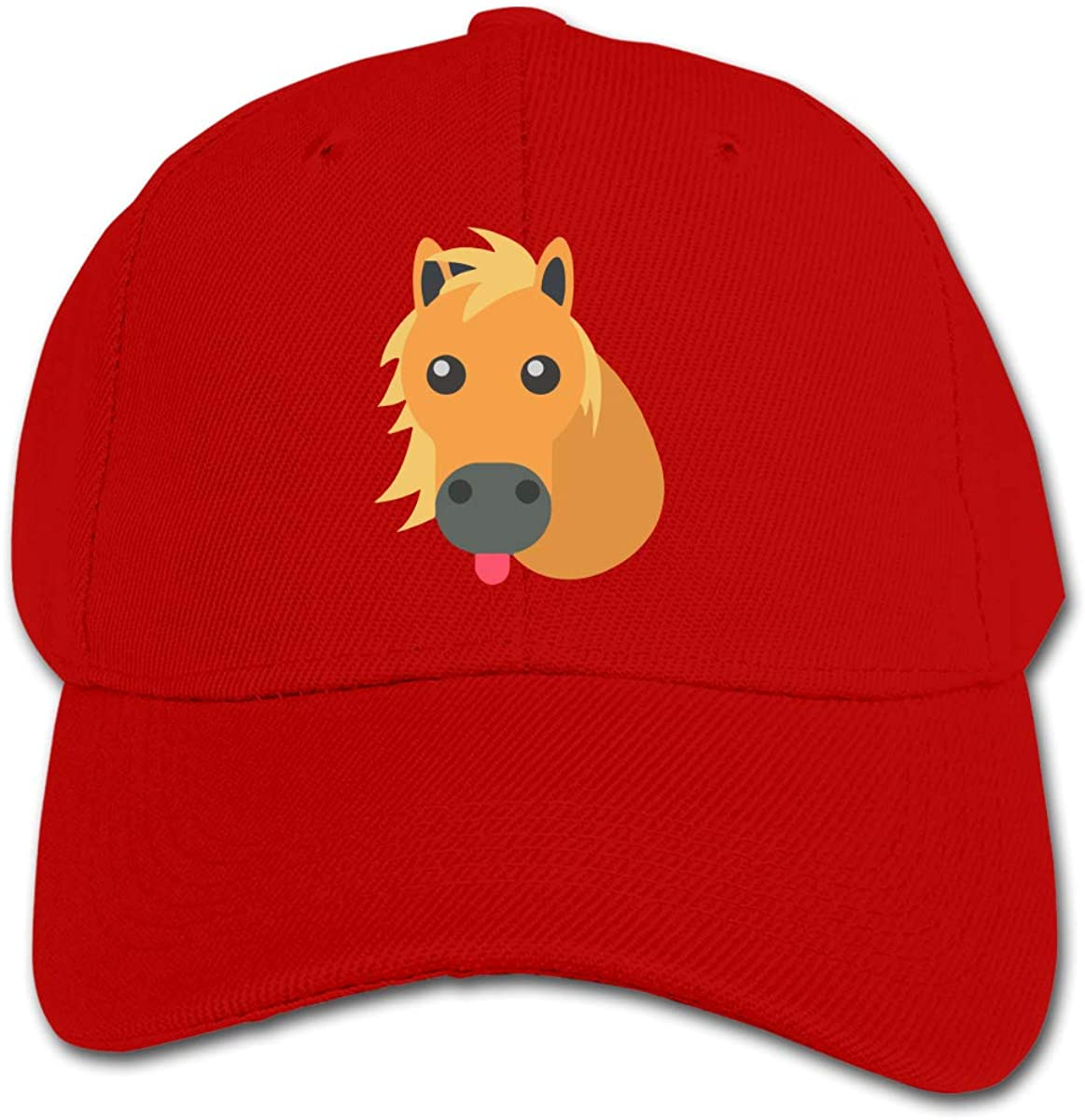 Cute Horse Kids Baseball Cap Hat Unisex Toddler Sun Hat Adsjutable Trucker Hat