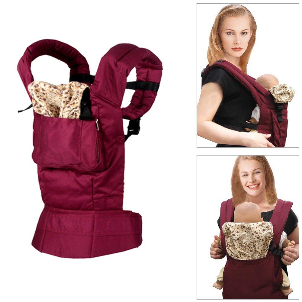 Portabebé para Toddle, mochila portabebé, portabebés de algodón con funda para bebé recién nacido con comodidad mochila con hebilla abrigos GF