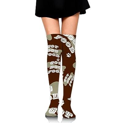 DyGSAG Dog Bone, Got Dog Food, Paw Print Women Men Unisex Socks Over Knee High Socks Boot Warmers Tube Stockings Athletic