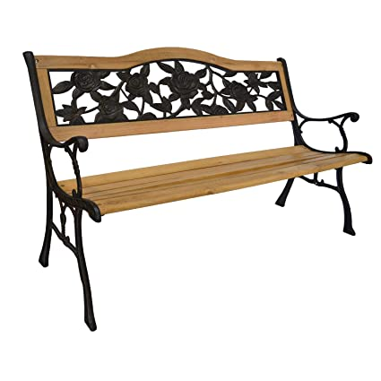 Pleasant Piersurplus Rose Bloom Cast Iron Park Bench W Resin Back Insert For Yard Or Garden V2 Product Sku Pb20016 Alphanode Cool Chair Designs And Ideas Alphanodeonline