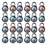 Master Lock 1561DAST Combination Dial Padlock, with Aluminum Cover, 1-7/8-Inch Wide Color May Vary, 24-Pack