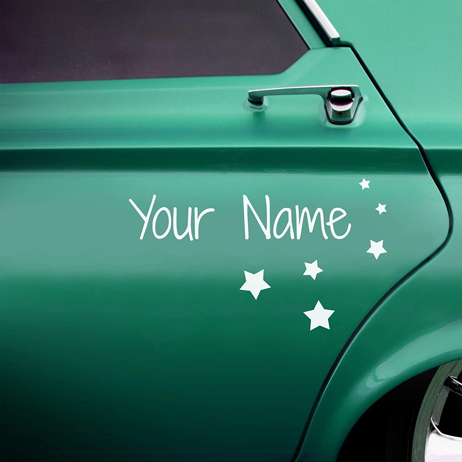 2 x custom car name stickers with shapes kids style amazon co uk handmade