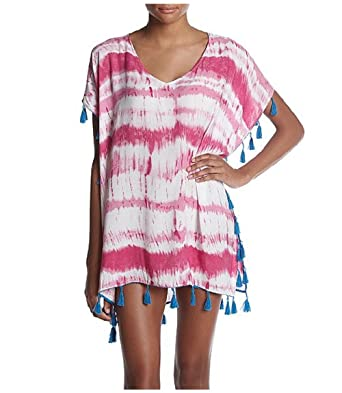 c5d2fb4cc6 Chelsea & Theodore Womens Beach Cover Up, Bubbly Pink Tie Dye/Sailor Blue (