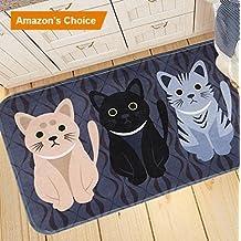 """Elohas Go Away Rubber Deep Blue Welcome Doormat Runner Inserts Indoor Outdoors Natural Easy Clean Cute Cat Floor Rug Door Mats For Entry Way Patio, Front Door, All Weather Exterior , 16X24"""""""