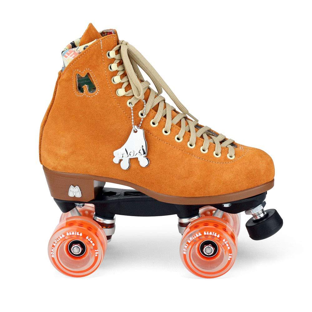 Moxi Skates - Lolly - Fashionable Womens Quad Roller Skate | Clementine Orange | Size 4