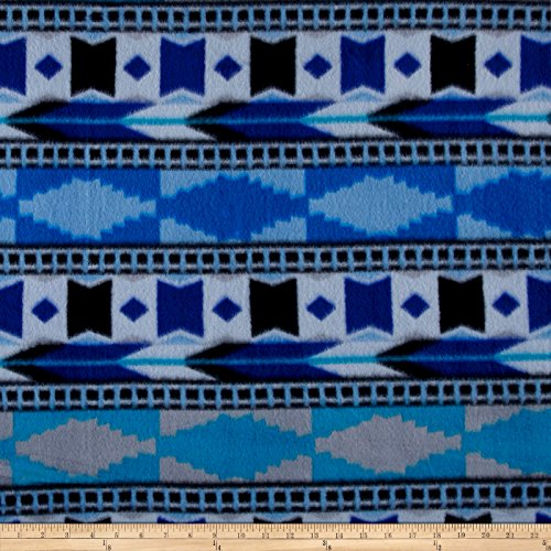 Polar Fleece Southwest Blue Fabric by The ()