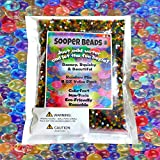 Toys : Sooper Beads Water Beads Rainbow Mix, 8 oz (20,000 beads) for Orbeez Spa Refill, Sensory Toys and Décor
