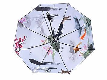 SFSYDDY-Antiguo Paraguas Plegable Doble Uso Creativo De Los Amantes Chino Viento Regalos Pintura En