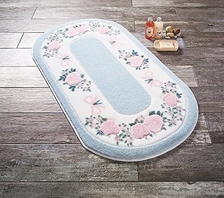 Confetti 331-01180-0469-01 Tappeto Bagno, Poliammide, Blu, 50x57x1 cm