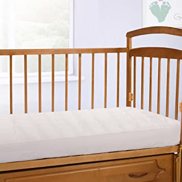 crib pillow top mattress pad Amazon.com: Crib Size Overfilled Pillow Top Crib Mattress Pad  crib pillow top mattress pad