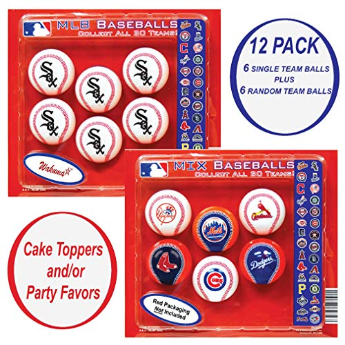 White Sox Cupcake Toppers. Party Favors Decorations & Supplies. Chicago Baseball Birthday Cake Decor & Supply. (Baby Basket Cupcake Gift)