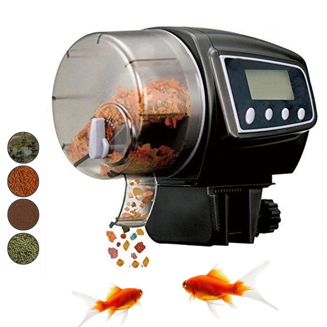 Fish & Aquatic Supplies Learned Adjustable Aquarium Automatic Lcd Fish Food Feeder Feeding Timer For Fish Tank