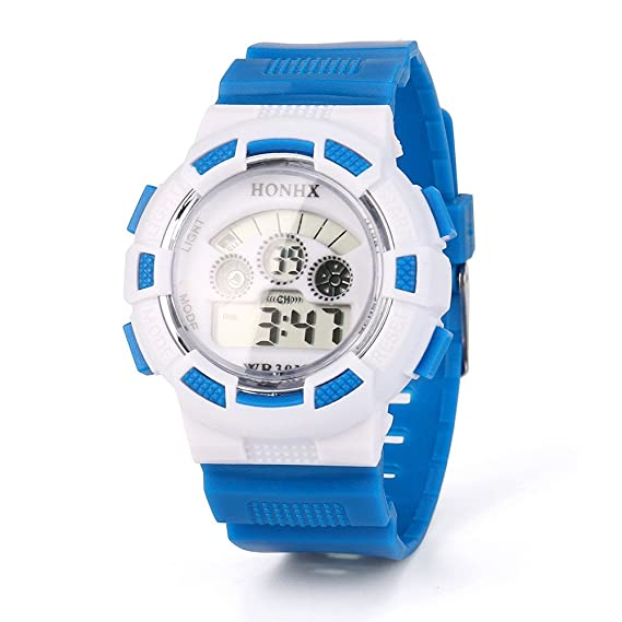 Amazon.com: Womens Mens Unisex Digital LED Watch COOKI Clearance on Sale Watches for Women Men Silicone Band-A29 (Blue): Watches