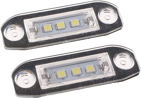 Car LED License Plate Number Light White Lamp For Volvo S80 Xc90 S40 v60 S60 C70