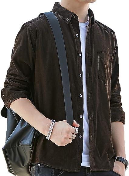 [ガナタ] コーデュロイ ボタンダウン カラー シャツジャケット 春 秋 冬 大人 長袖 かっこいい シンプル オシャレ トップス