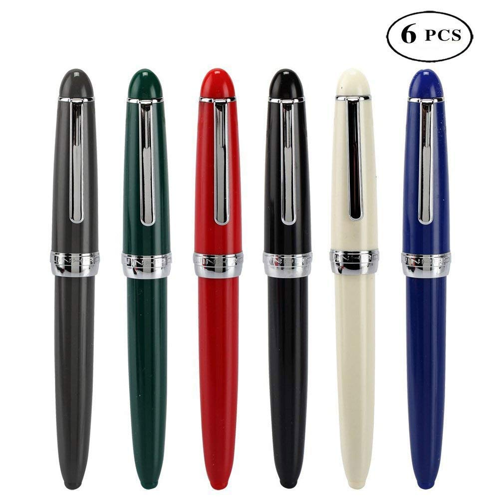 6pcs fountain pen M nib Most of the pen can be used Smooth writing