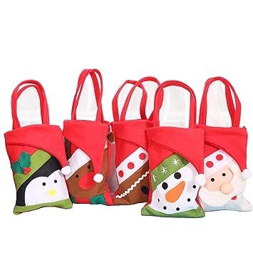 Weihnachtsdeko Lebkuchenmann.Bestoyard 5 Stück Weihnachtstüten Weihnachten Geschenktasche