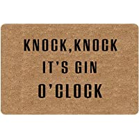 Personalized Welcome Mat Hello Mat Custom KnockKnock It's Gin O'clock Funny Doormat Entrance Mat Floor Mat Rug Indoor…