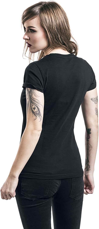 Guns N Roses Rose Logo Donna T-Shirt Nero Slim Fit