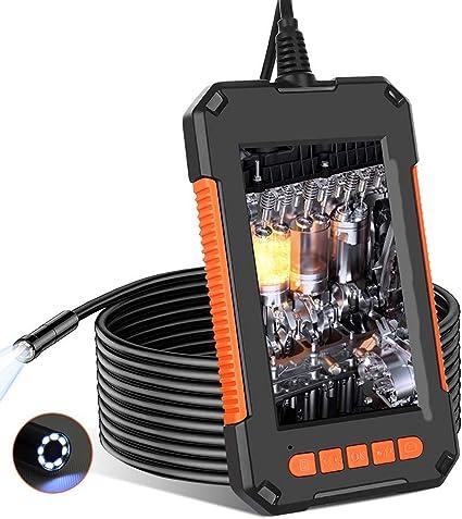 Endoskopkamera Mit Licht Endoskop Kamera 1080p Hd 8mm Industrielles Inspektionskamera Mit 4 3 Zoll Ips Bildschirm Ip67 Wasserdichte Rohrkamera Mit 8 Einstellbare Led Leuchten 5m 16 5 Ft Auto