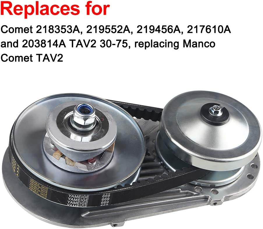 WATERWICH Go Kart Torque Converter Clutch Kit Replaces Comet TAV2 218353A 3//4 30-75 Manco 10T #40//41 and 12T #35 Chain 30 Series