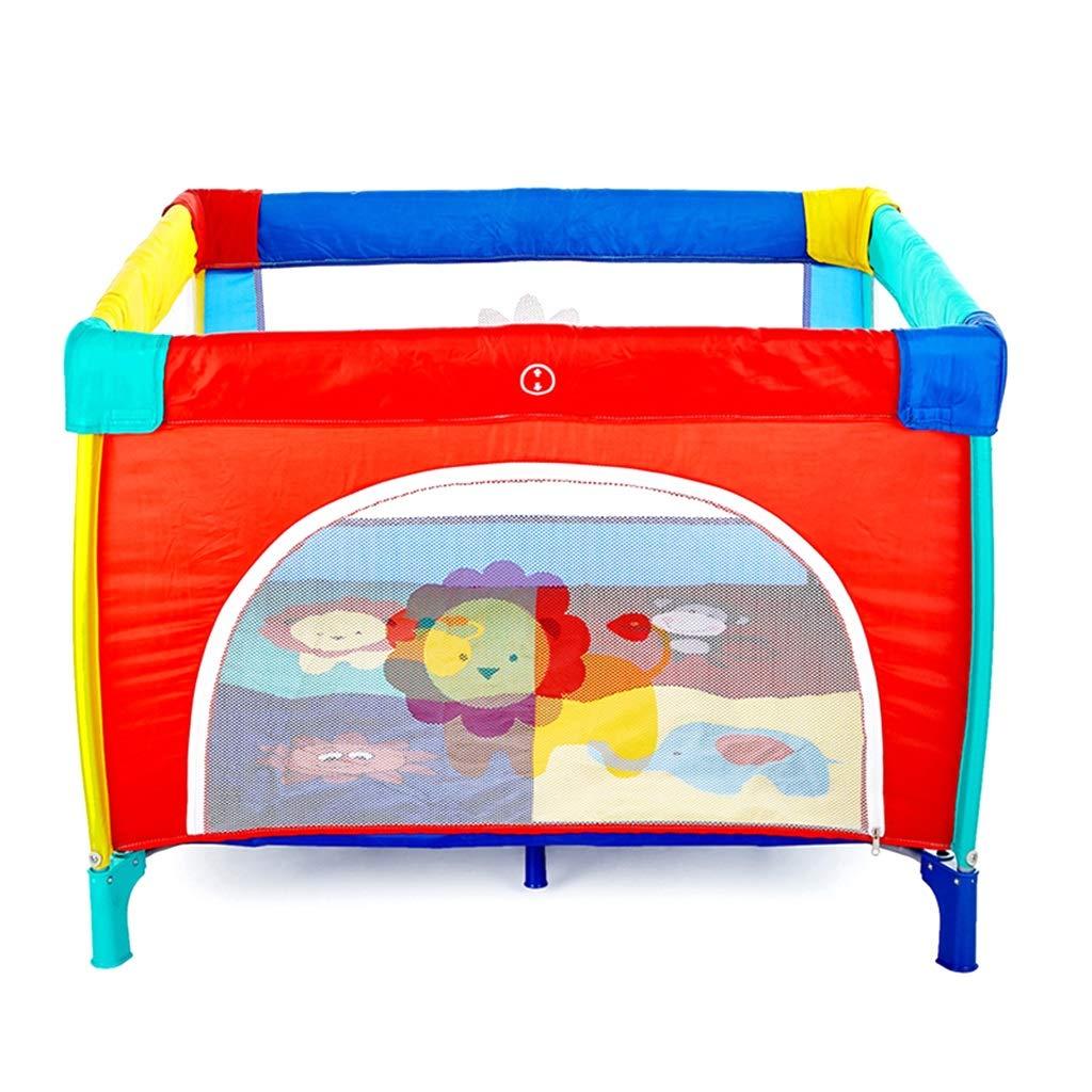 大型ポータブルベビーキッズPlaypen、Play Yard Foldableルームデバイダ、幼児用、オックスフォード布 (色 : Red, サイズ さいず : 100×100×76cm) 100×100×76cm Red B07KW8FX15