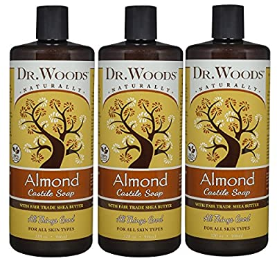 Dr. Woods Pure Almond Castile Soap with Organic Shea Butter 32 Ounce