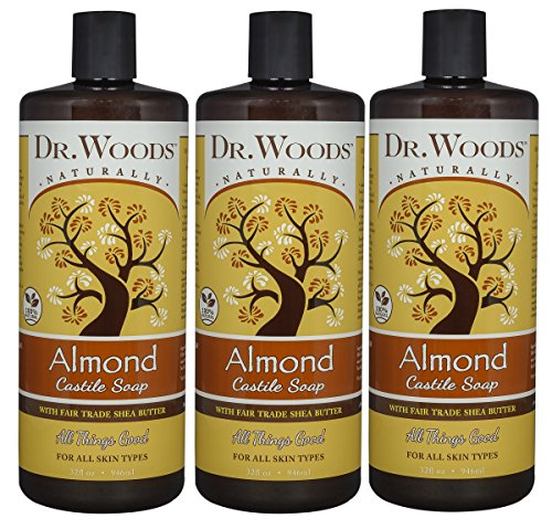 Dr. Woods, Facial Cleanser, Black Soap, 8 fl oz(pack of 6) 3 Pack - Curel Continuous Comfort Lotion Fragrance Free 20 oz