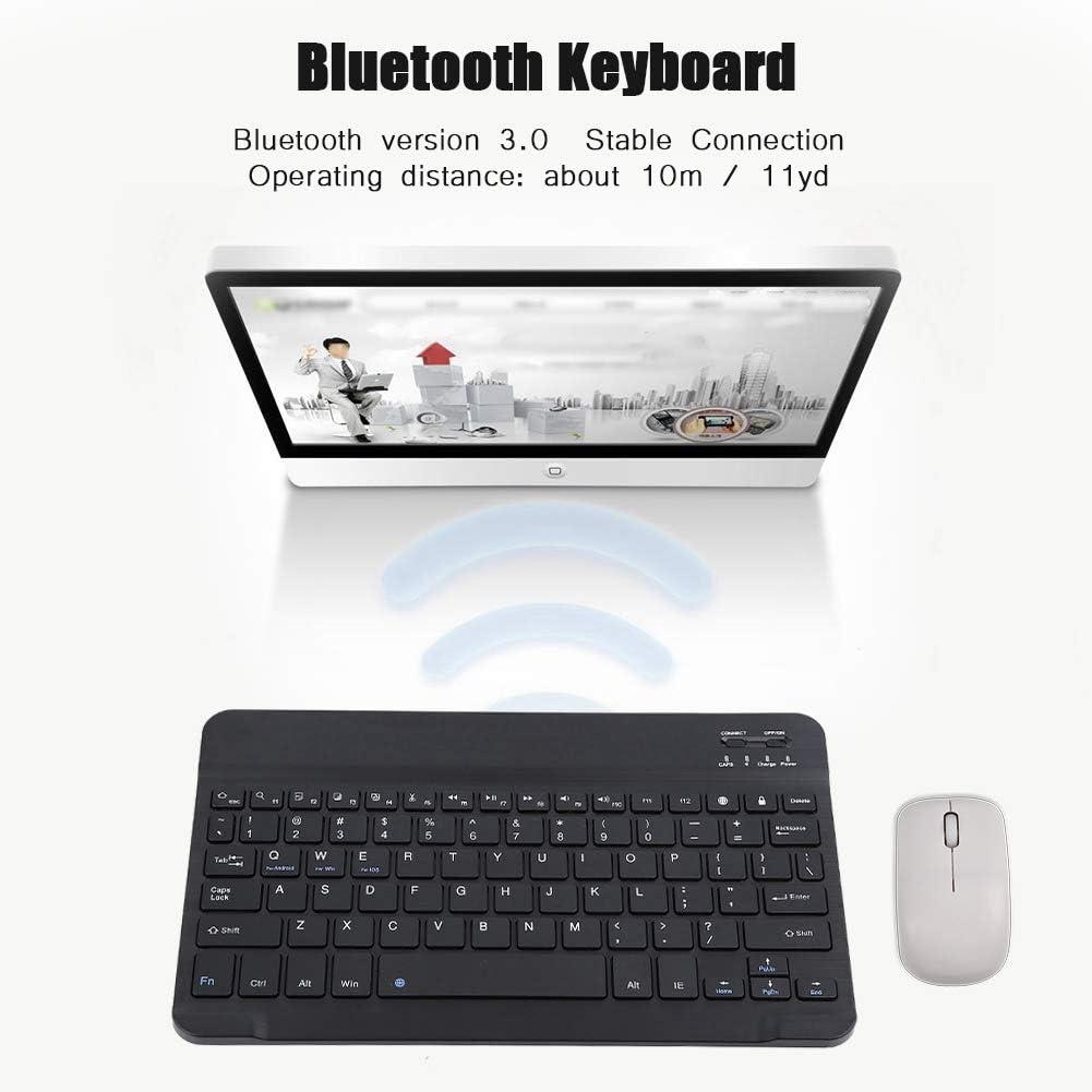 Negro INPHIC Recargable Teclado inal/ámbrico con Bluetooth Port/átil Ultradelgado para MacOS Tablet PC Android Smart TV Windows 10//8//7 y Dispositivos Habilitados para Bluetooth Teclado Bluetooth