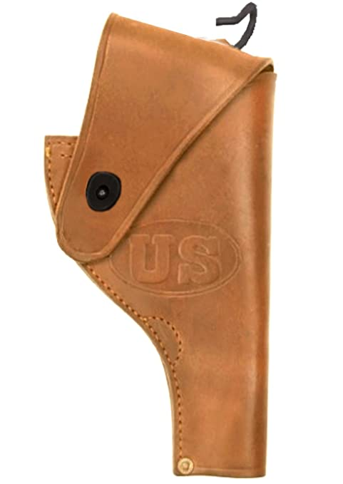 Ultimate Arms Gear Tactical Militaria US Army Military WW2 WWII United  States Embossed Reproduction Genuine Leather Smith & Wesson S&W  38  Revolver