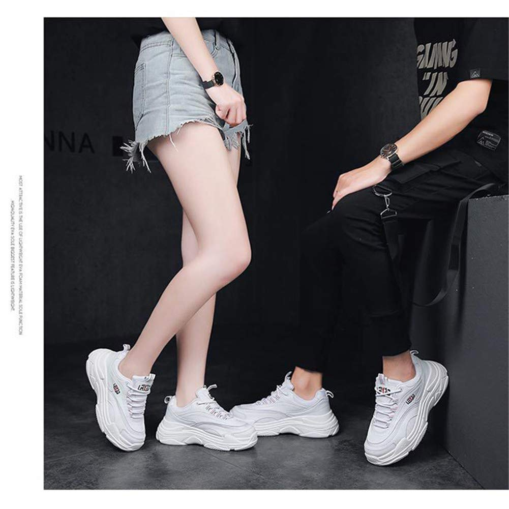 Sports Shoes Woman Thick Sole Breathable Sneakers Lace-Up Air Running Shoes Shock Wedge Lightweigh Platform Walking Athletic Shoe