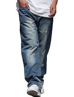 876c9714273f8 Pantalones Vaqueros para Hombre Vintage Fashion Baggy Soft Moda Hip Hop  Dancing Denim Pants Men Casual
