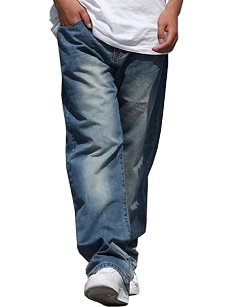 Pantalones Vaqueros para Hombre Vintage Fashion Baggy Soft ...