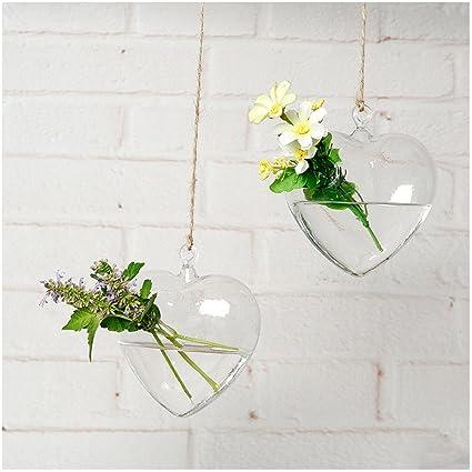 Amazon Yookoon Heart Shaped Transparent Glass Flower Vase